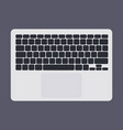 white laptop computer keyboard with black keys vector image