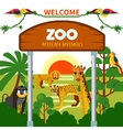 Zoo African Animals vector image