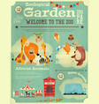 zoo park poster vector image vector image