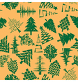 abstract christmas trees pattern vector image