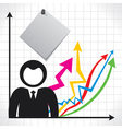 businessmen and background with market graph vector image