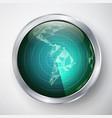 radar south america futuristic user vector image