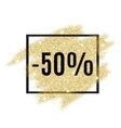50 percent off discount promotion tag