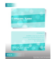 a light colored business card vector image vector image