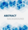 Abstract blue hexagon overlapping background vector image vector image