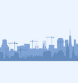 abstract industrial skyline vector image vector image