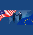 america european union international partnership vector image vector image