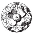 antique rosette is an artificial rose with four