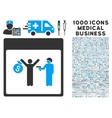 Arrest Calendar Page Icon With 1000 Medical vector image vector image