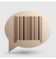 Bar code sign Brown gradient icon on bubble with vector image vector image