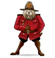 Beaver in canadian ranger suit vector image vector image