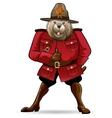 Beaver in canadian ranger suit vector image