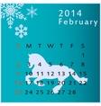 calendar 2014 february vector image vector image