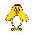 cartoon easter chicken symbol icon design vector image