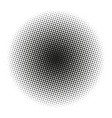 circle gradient halftone dots background template vector image vector image