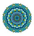 color floral mandala vintage vector image vector image