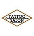 color vintage tattoo salon emblem vector image vector image