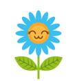 cute kawaii flower decoration cartoon vector image vector image