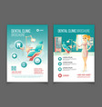 dental clinic advertising brochure cartoon vector image