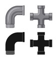design pipe and tube icon set pipe vector image vector image