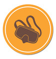 diving mask icon isolated vector image