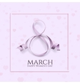 Eight March international womens day background vector image vector image