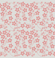 elegant seamless pattern with cute flowers vector image vector image