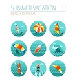 Extreme Water Sport icon set Summer Vacation vector image vector image