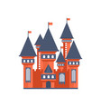 fairytale medieval castle with flags vector image vector image