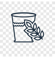 glass of water concept linear icon isolated on vector image