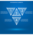 glass triangle infographic 3 vector image vector image