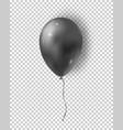 Glossy black balloon realistic air 3d balloon