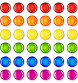 Glossy buttons with shadows in rainbow colors vector image vector image