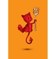 Halloween character cartoon Little Red Devil vector image