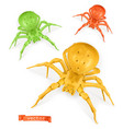 halloween red yellow and green spiders thomisidae vector image vector image