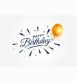 happy birthday celebration background with vector image