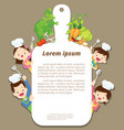 happy family cooking with templaet vector image vector image