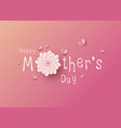happy mothers day design on pink background vector image vector image