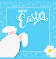 happy spring card with easter rabbit egg vector image vector image