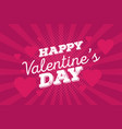 happy valentines day vintage hand drawing vector image vector image