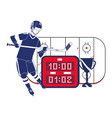 hockey player ice field vector image