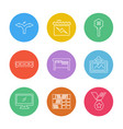 home awards furniture house hold eps icons set vector image
