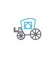 horse coach thin line stroke icon hors vector image vector image