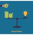 investment finance icon vector image vector image