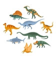 Jurassic Period Dinosaurs Set vector image vector image
