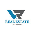 l r real estate logo designs modern simple vector image