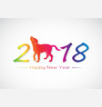 labrador dog 2018 new year card vector image vector image