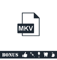 MKV icon flat vector image vector image