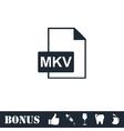 MKV icon flat vector image