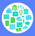 money and investment round concept in flat style vector image vector image